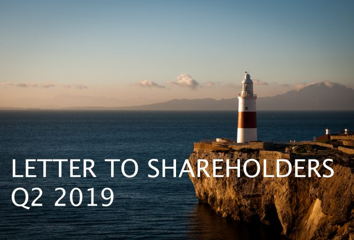 Letter to shareholders, Q2 2019